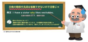 省略できない関係代名詞 (図解)