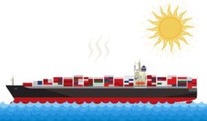 海上輸送のリスク (湿度によるカビの発生)